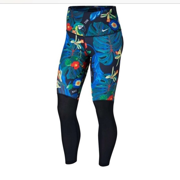 catch special section huge selection of NWT Nike Femme 7/8 tights tropical floral parrot M NWT